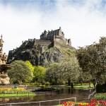 Edinburgh , Scotland - Castle from Princes Street Gardens