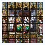 St. Michael and St. Gudula Cathedral, Brussels : Detail of Stain Glass Windows